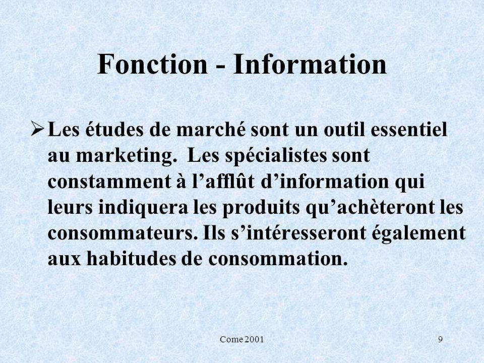 Fonction - Information