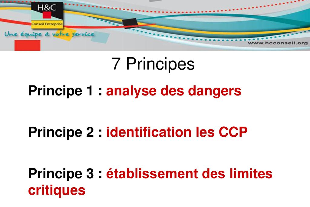7 Principes Principe 1 : analyse des dangers