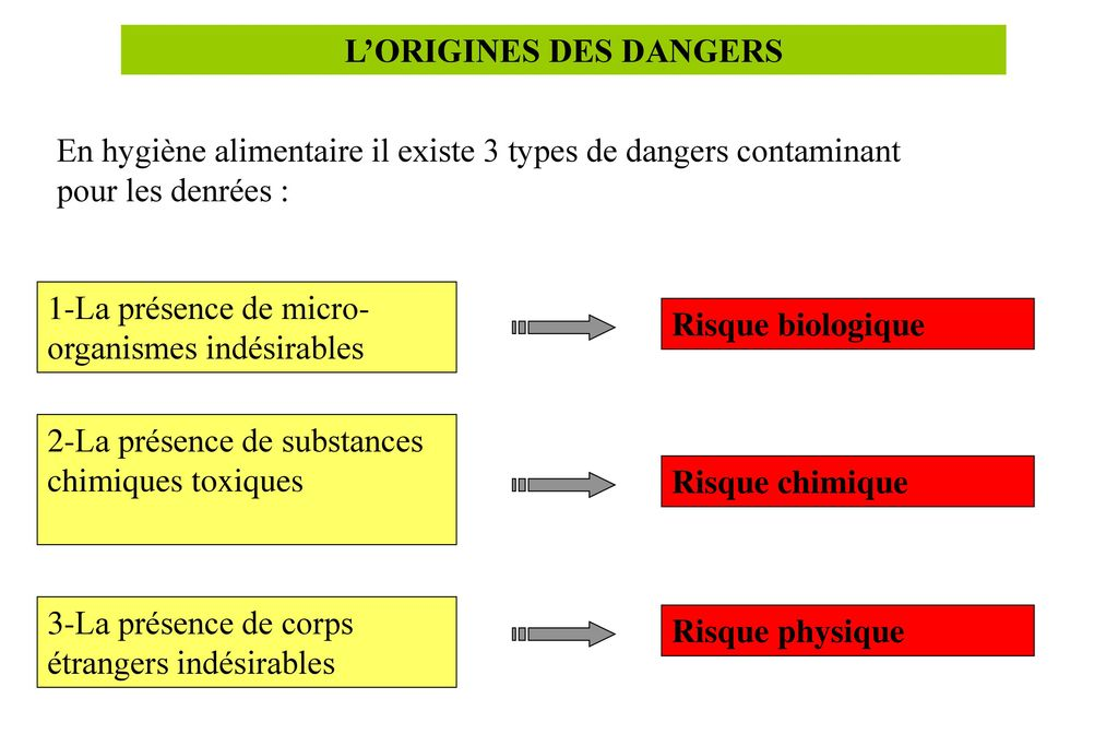 L'ORIGINES DES DANGERS