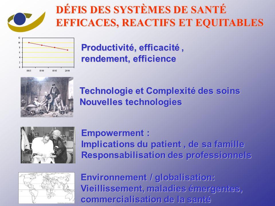 DÉFIS DES SYSTÈMES DE SANTÉ EFFICACES, REACTIFS ET EQUITABLES