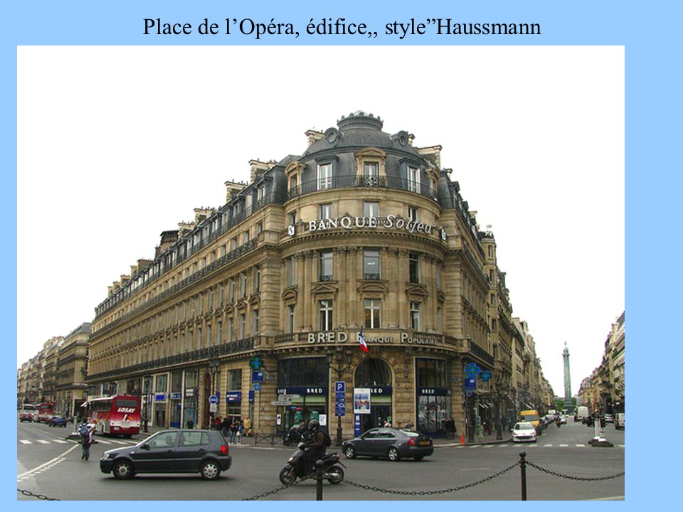 Place de l'Opéra, édifice,, style Haussmann