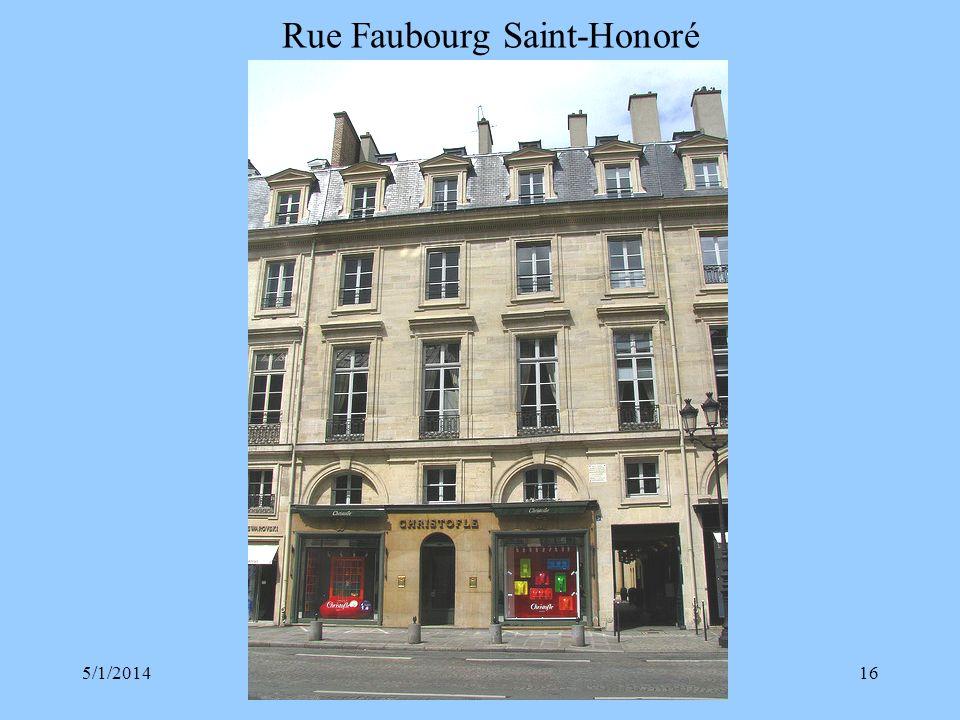 Rue Faubourg Saint-Honoré