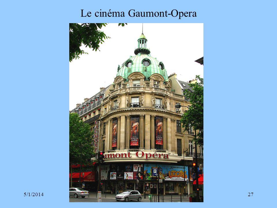 Le cinéma Gaumont-Opera