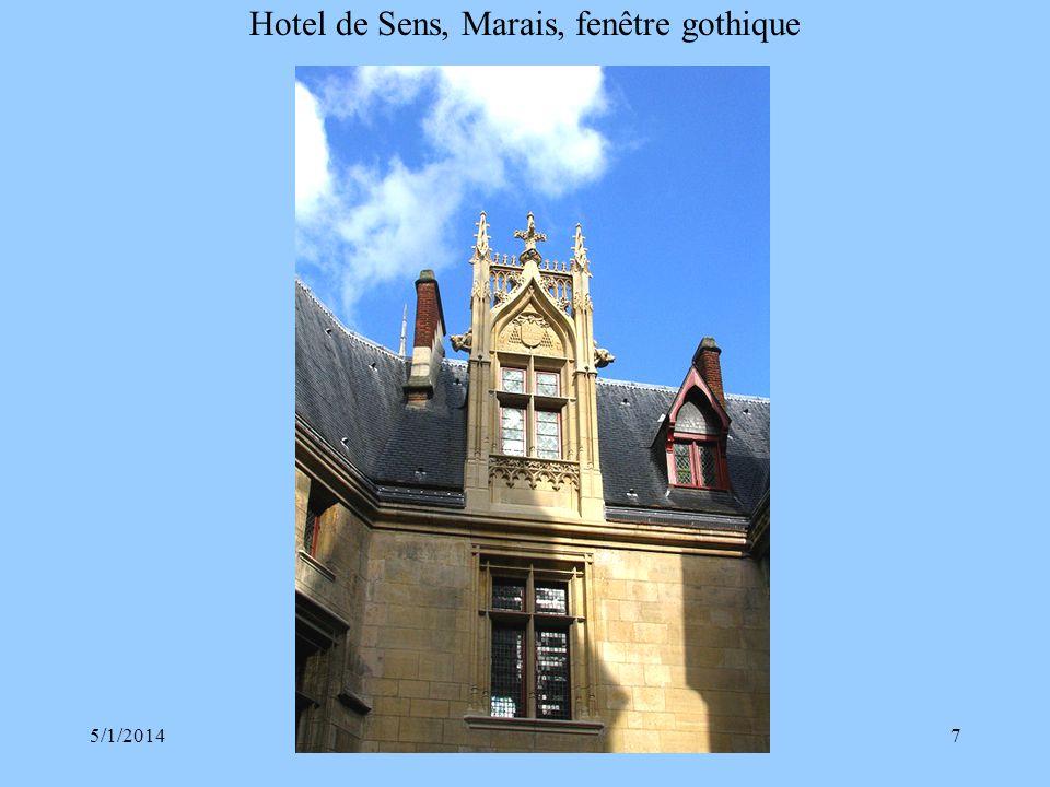 Hotel de Sens, Marais, fenêtre gothique