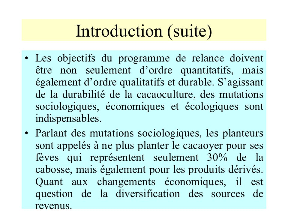 Introduction (suite)