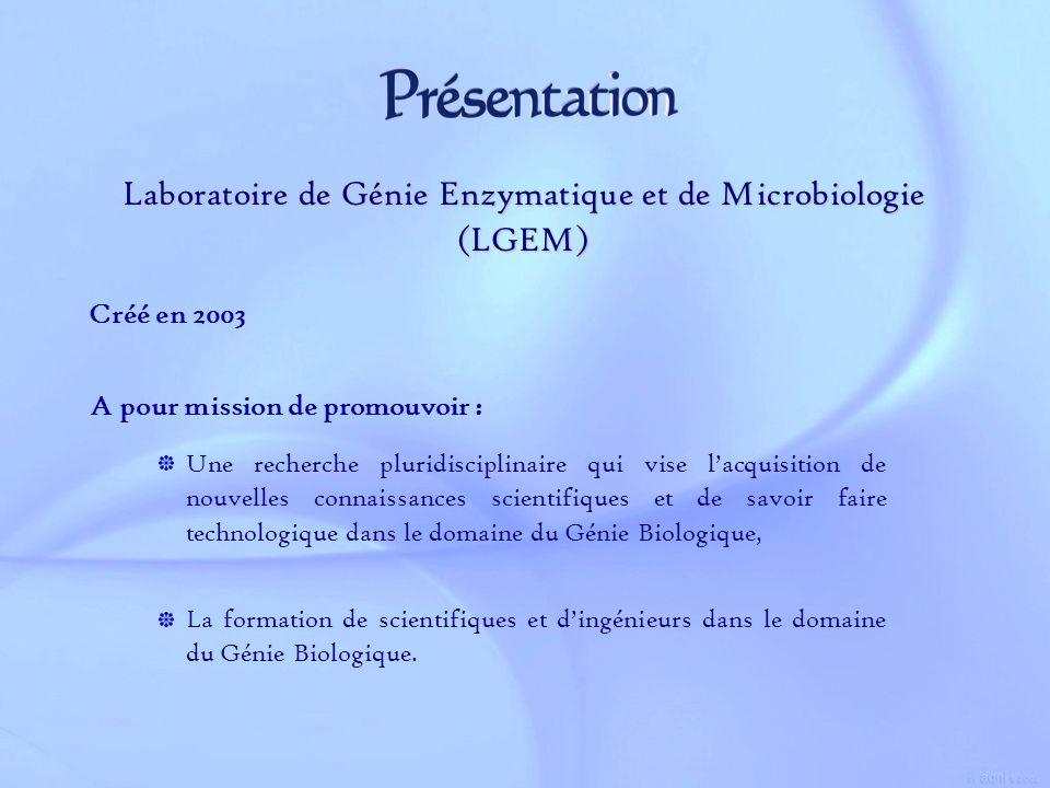 Laboratoire de Génie Enzymatique et de Microbiologie (LGEM)