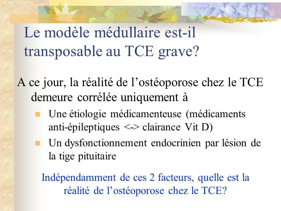 Le modèle médullaire est-il transposable au TCE grave