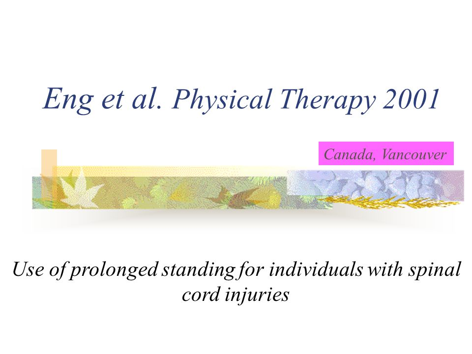 Eng et al. Physical Therapy 2001