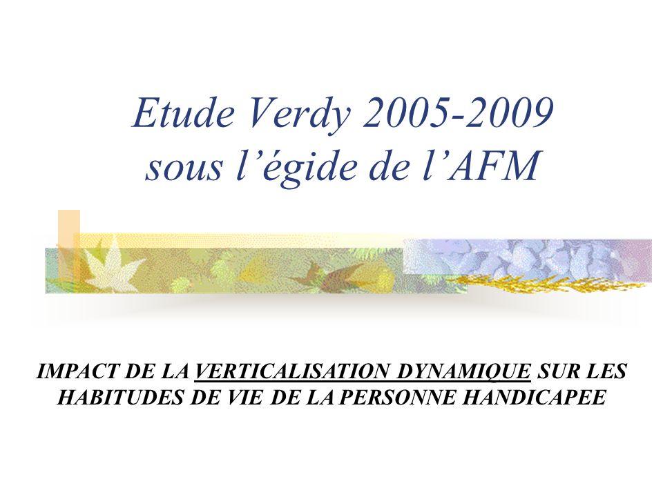 Etude Verdy 2005-2009 sous l'égide de l'AFM