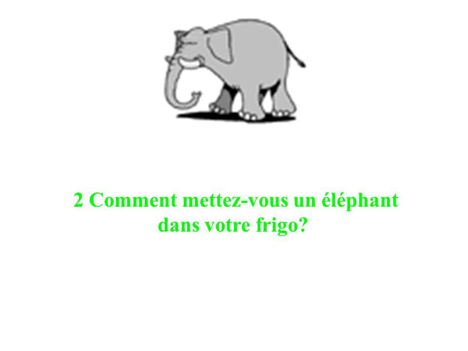 2 Comment mettez-vous un éléphant