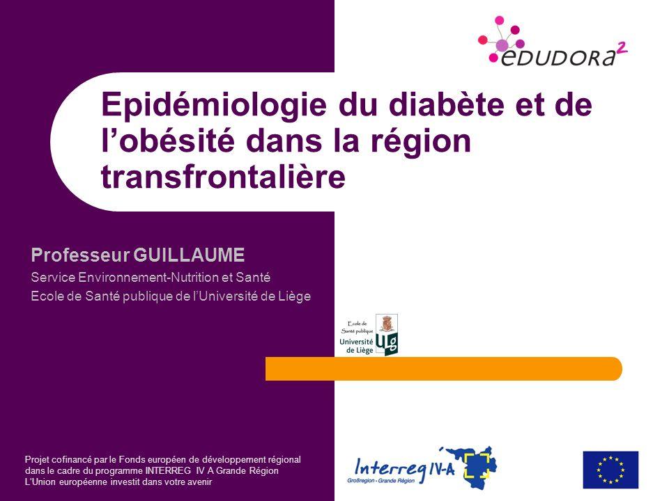 Epidémiologie du diabète et de l'obésité dans la région transfrontalière