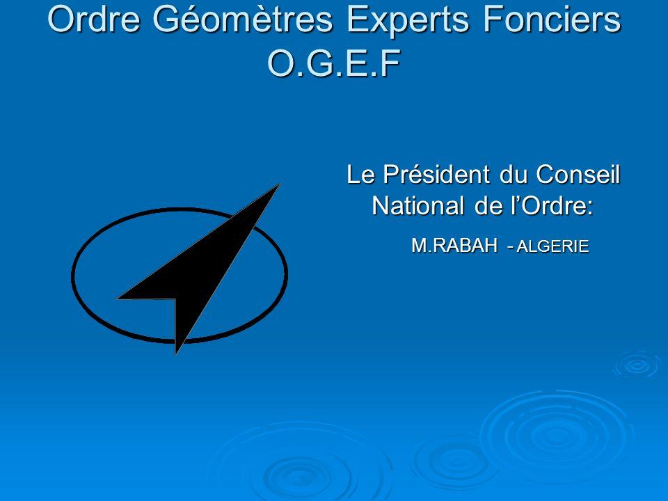 Ordre Géomètres Experts Fonciers O.G.E.F