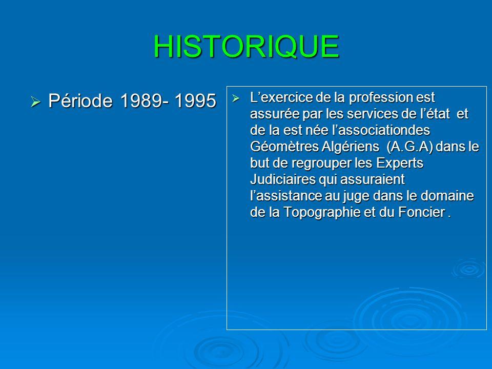 HISTORIQUE Période 1989- 1995.