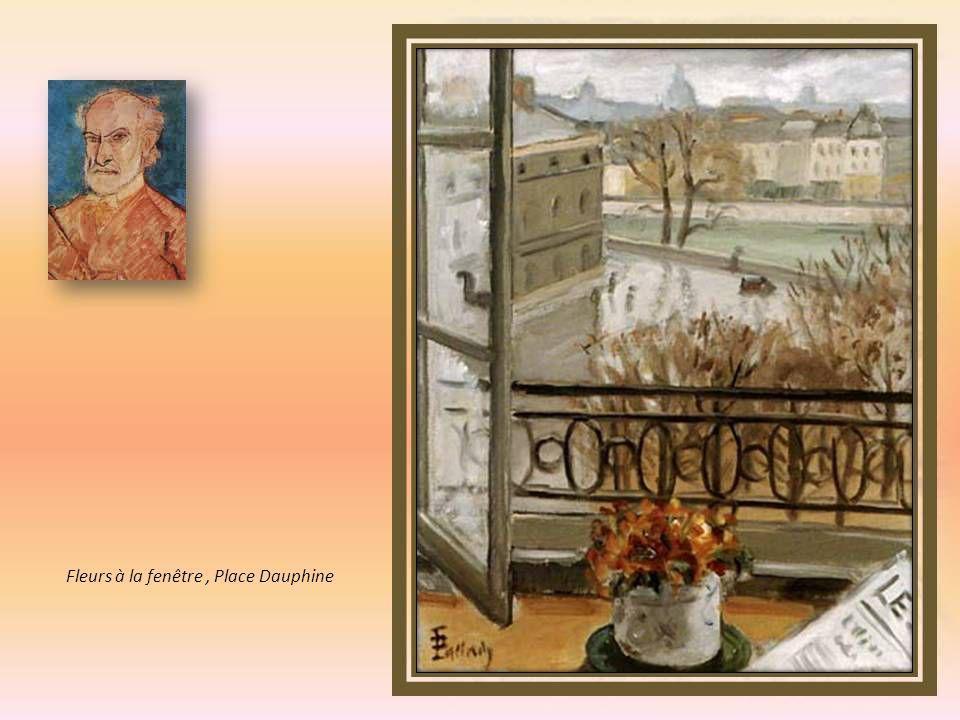 Fleurs à la fenêtre , Place Dauphine