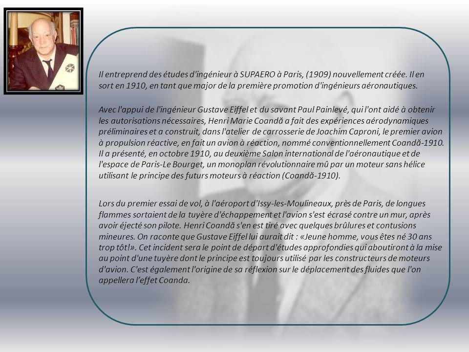 Il entreprend des études d ingénieur à SUPAERO à Paris, (1909) nouvellement créée. Il en sort en 1910, en tant que major de la première promotion d ingénieurs aéronautiques.