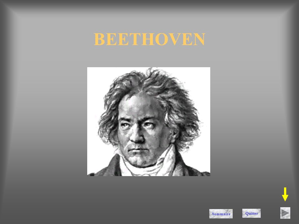 BEETHOVEN Sommaire Quitter