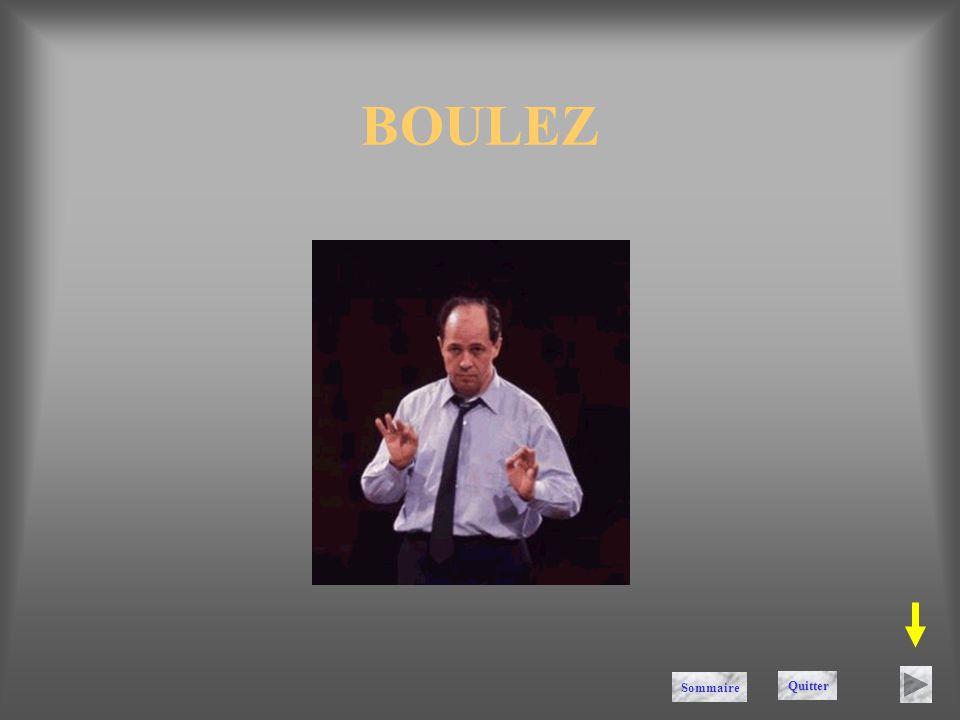 BOULEZ Sommaire Quitter