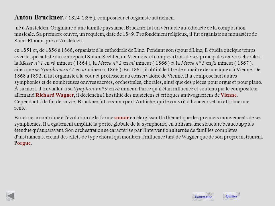 Anton Bruckner, ( 1824-1896 ), compositeur et organiste autrichien,