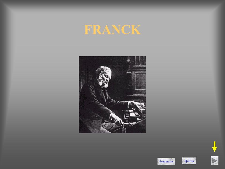 FRANCK Sommaire Quitter
