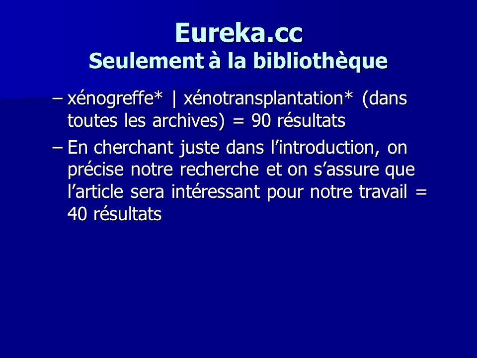 Eureka.cc Seulement à la bibliothèque