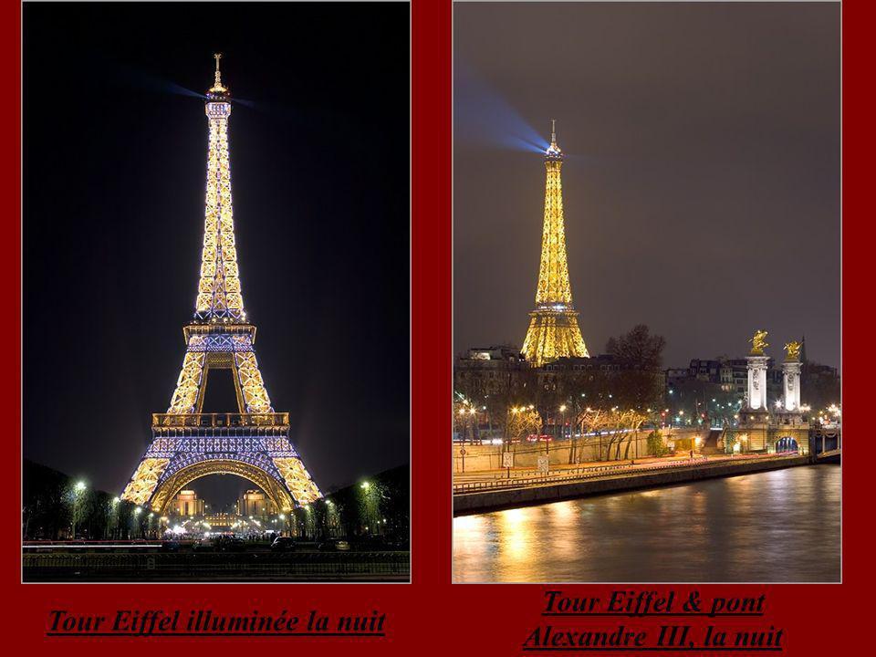Tour Eiffel & pont Alexandre III, la nuit