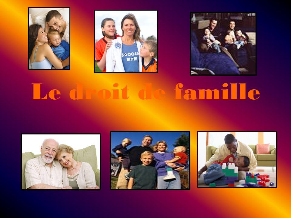 Le droit de famille