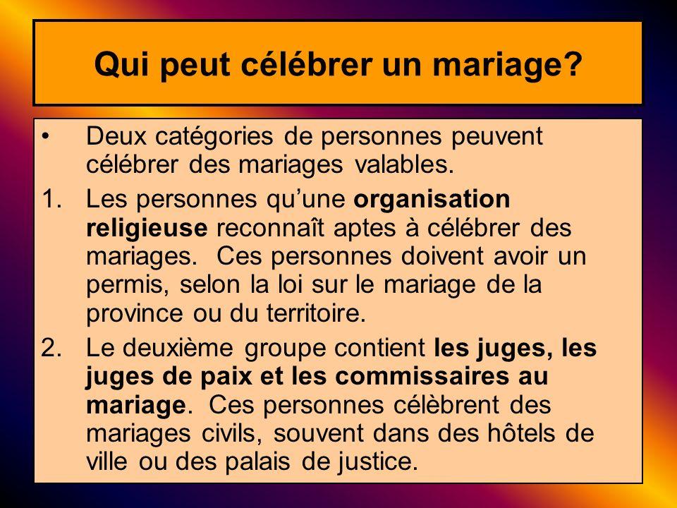 Qui peut célébrer un mariage