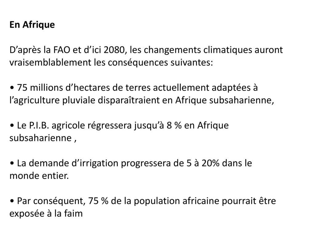 les changements climatiques causes et consequences pdf