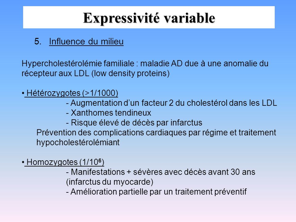 Expressivité variable