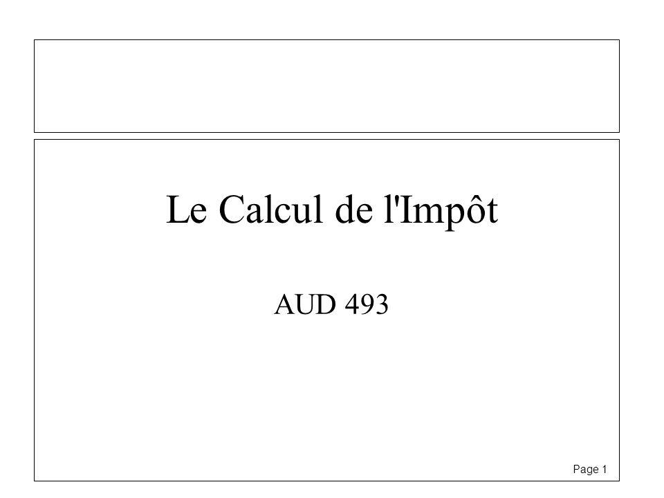 Le Calcul de l Impôt AUD 493
