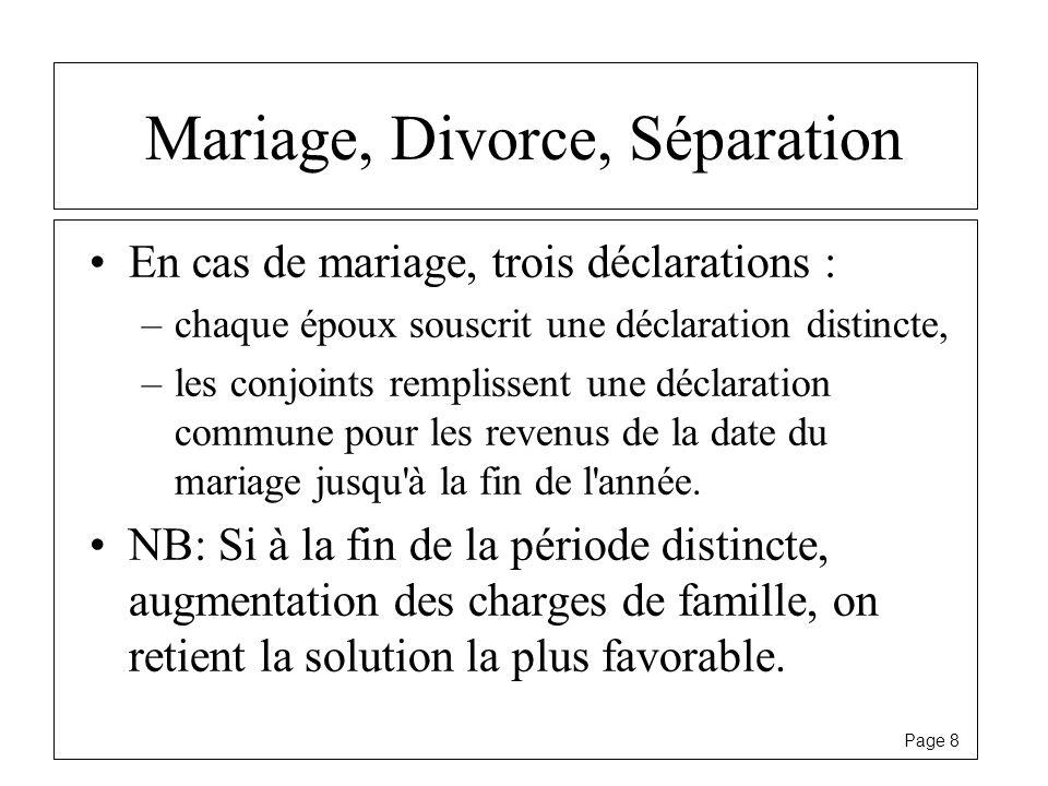 Mariage, Divorce, Séparation