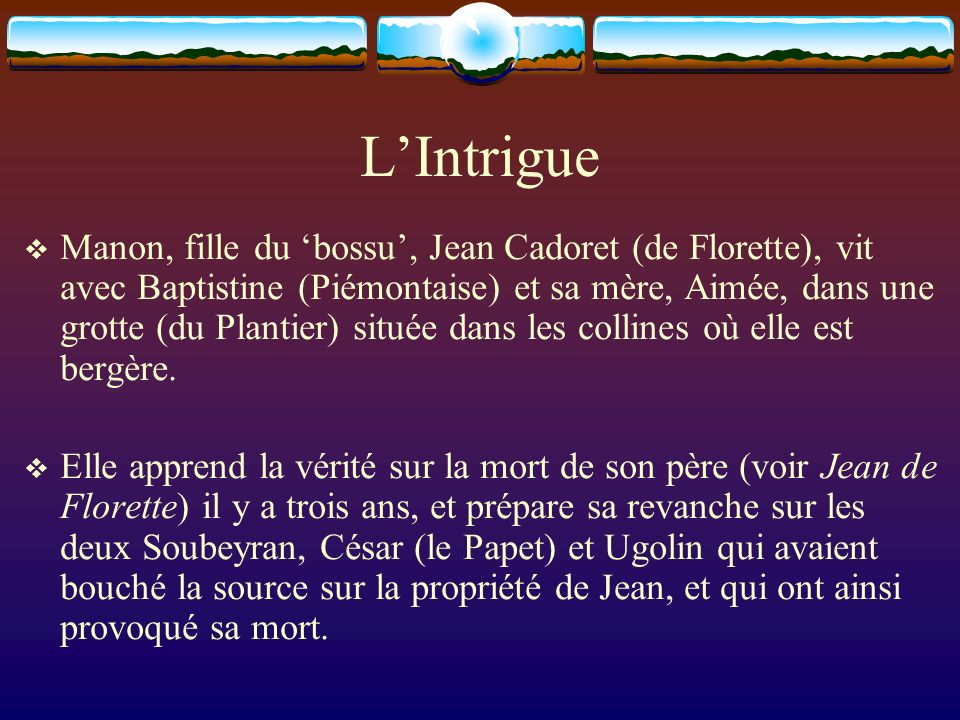 L'Intrigue