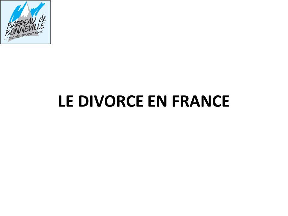 LE DIVORCE EN FRANCE