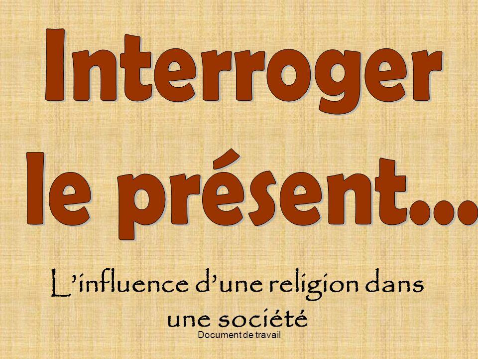 L'influence d'une religion dans une société