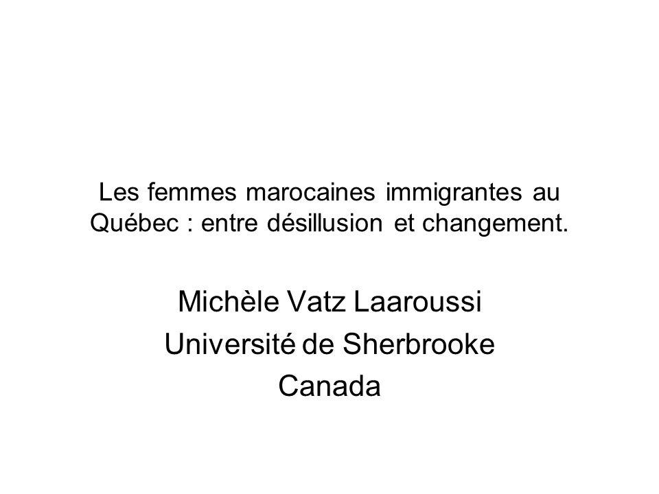 Michèle Vatz Laaroussi Université de Sherbrooke Canada