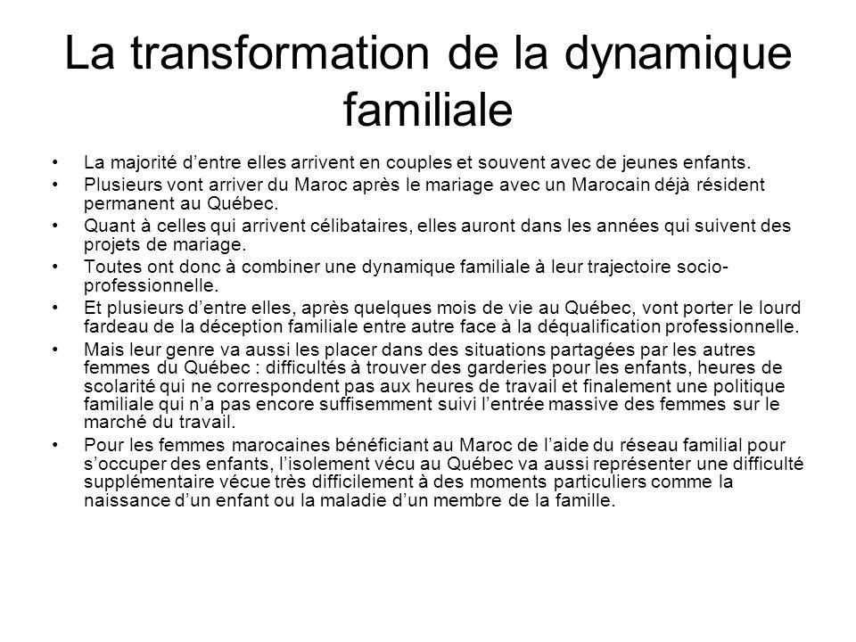 La transformation de la dynamique familiale