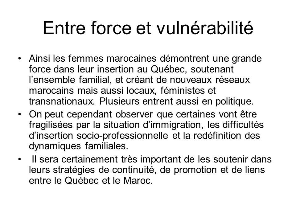 Entre force et vulnérabilité