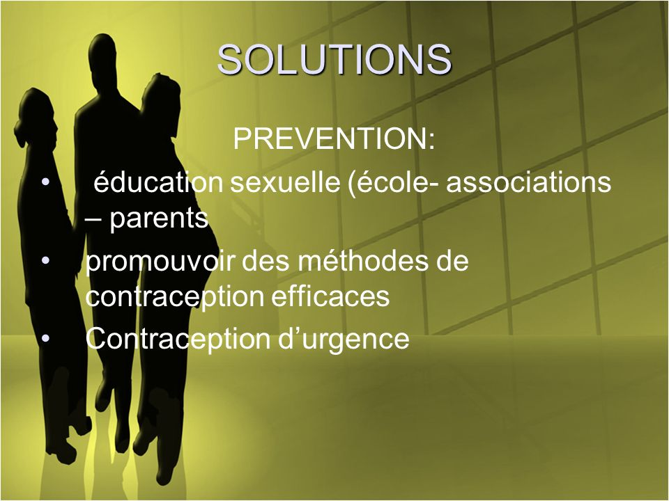 SOLUTIONS PREVENTION: