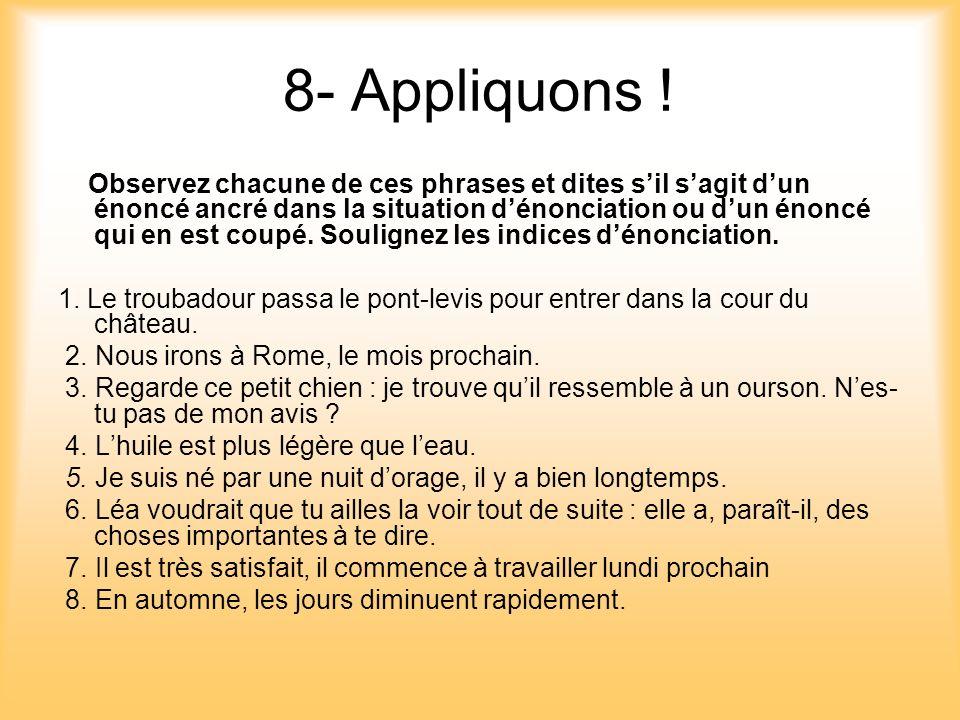 8- Appliquons !