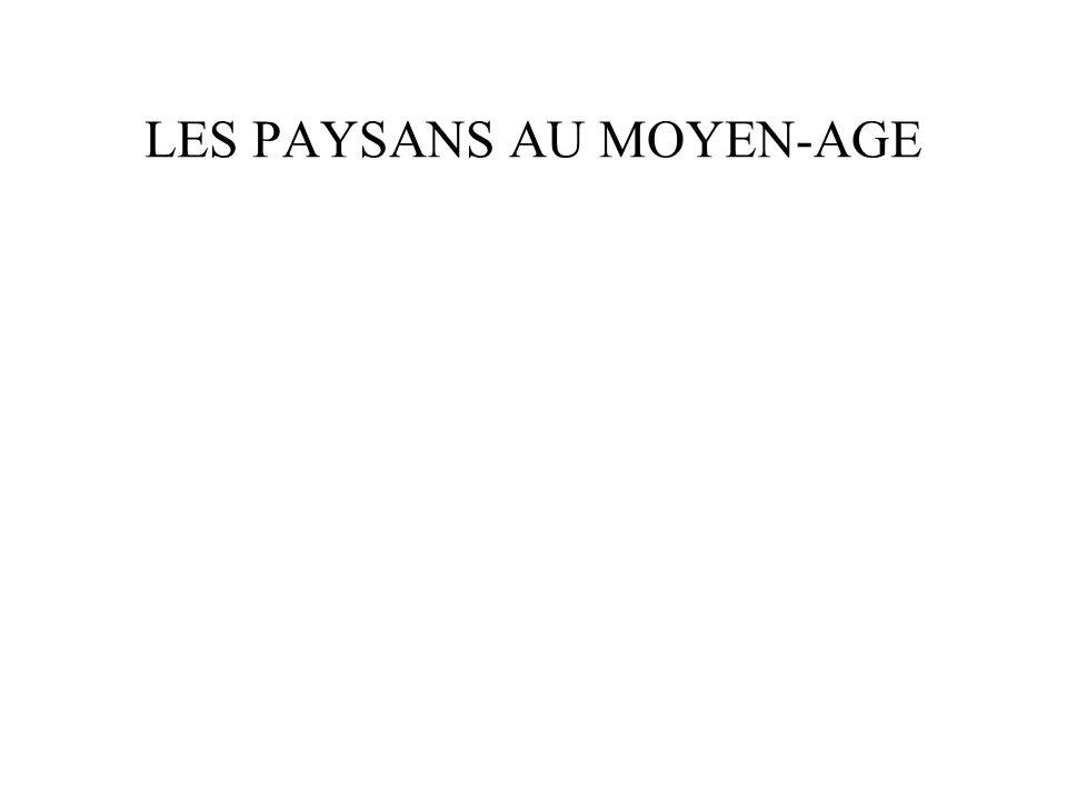 LES PAYSANS AU MOYEN-AGE