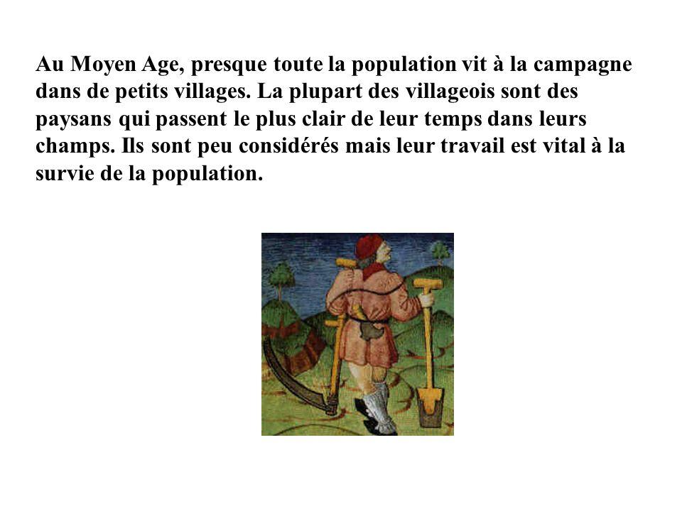 Au Moyen Age, presque toute la population vit à la campagne dans de petits villages.