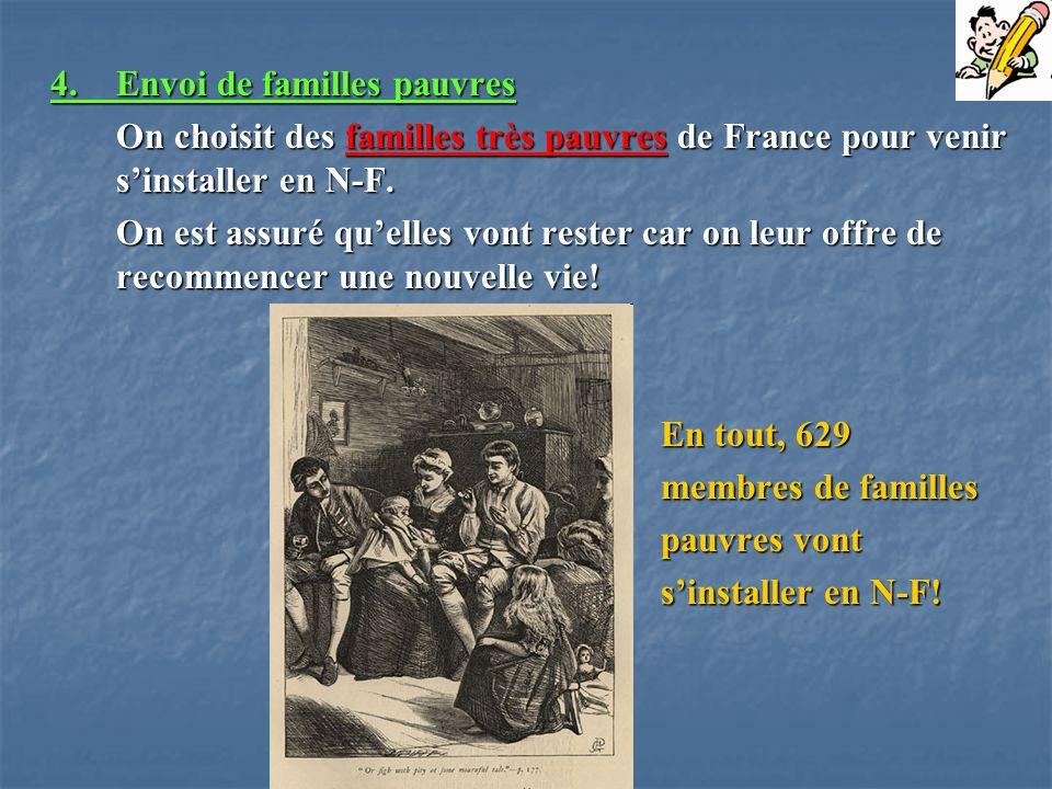 4. Envoi de familles pauvres