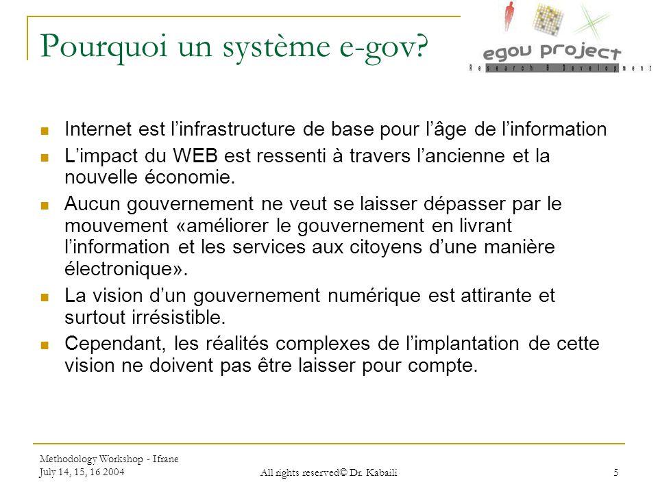 Pourquoi un système e-gov