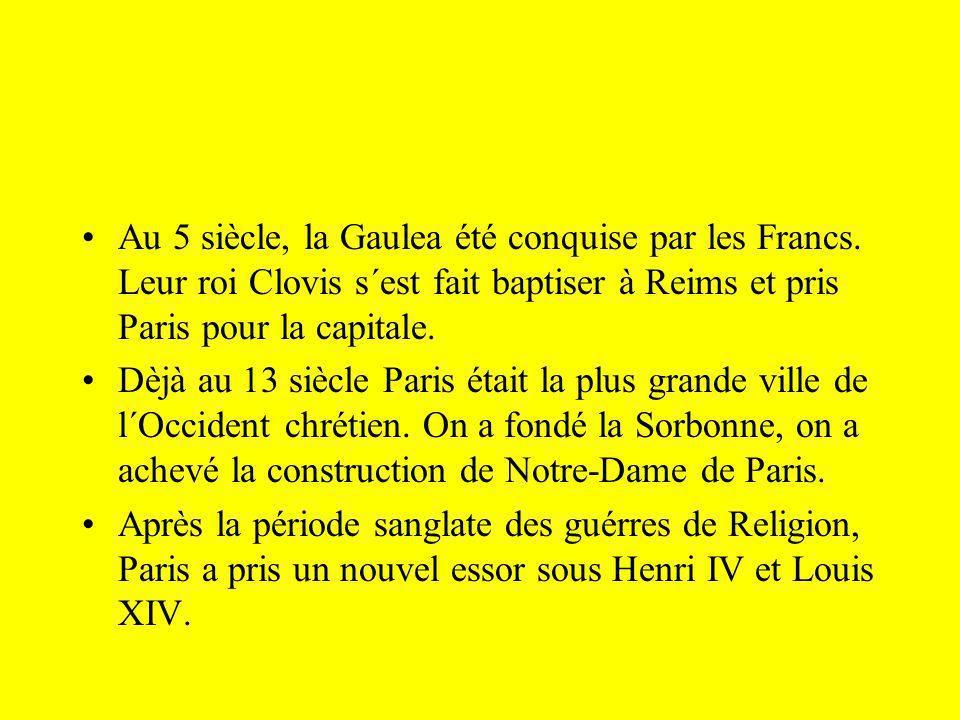 Au 5 siècle, la Gaulea été conquise par les Francs