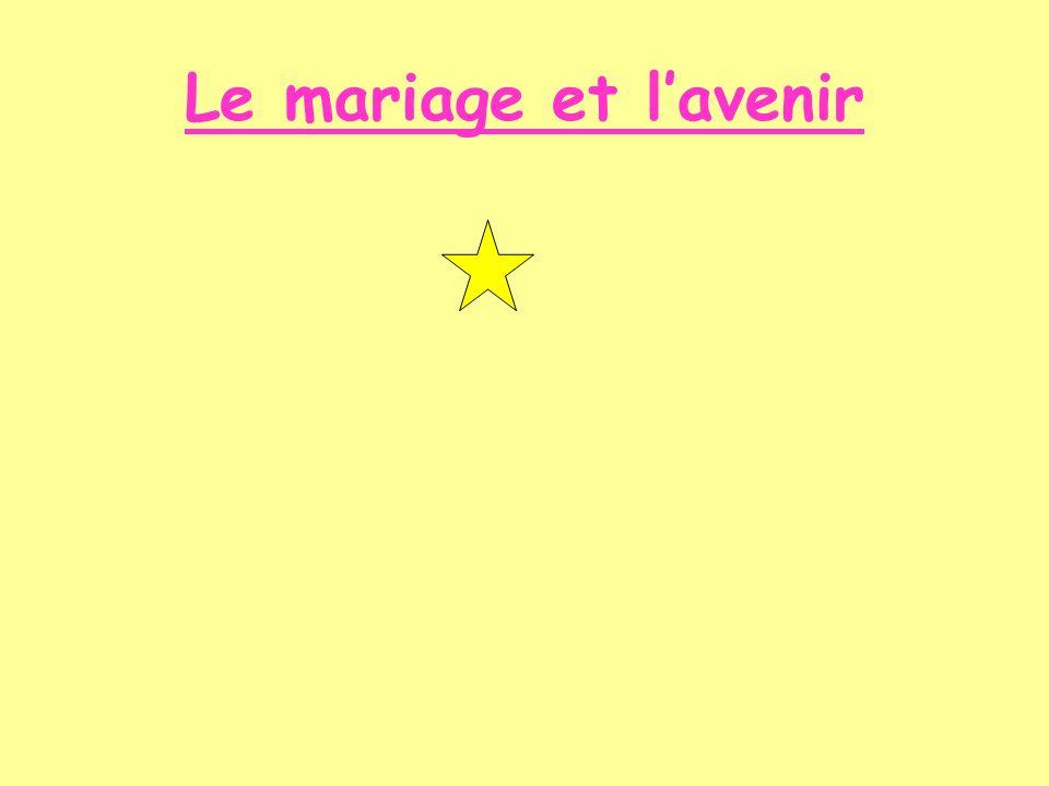 Le mariage et l'avenir