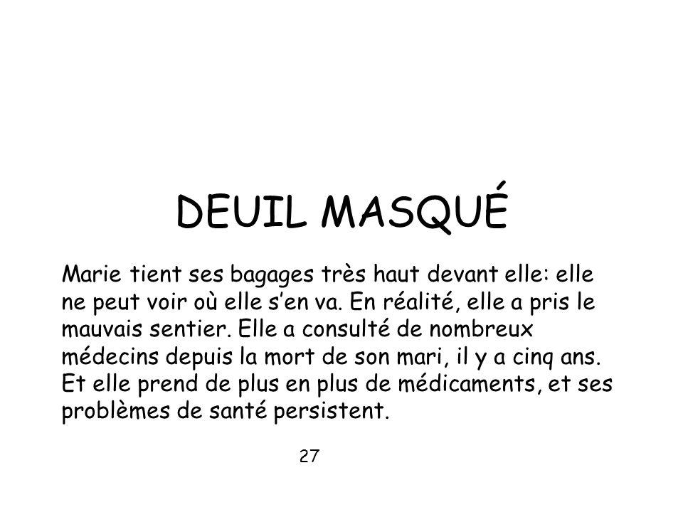 DEUIL MASQUÉ