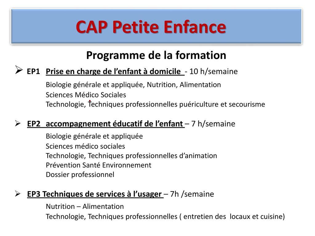 Assez CAP Petite Enfance CFC-LPAP ANET- 40 Rue Hubert Baraine ANET ppt  LT48