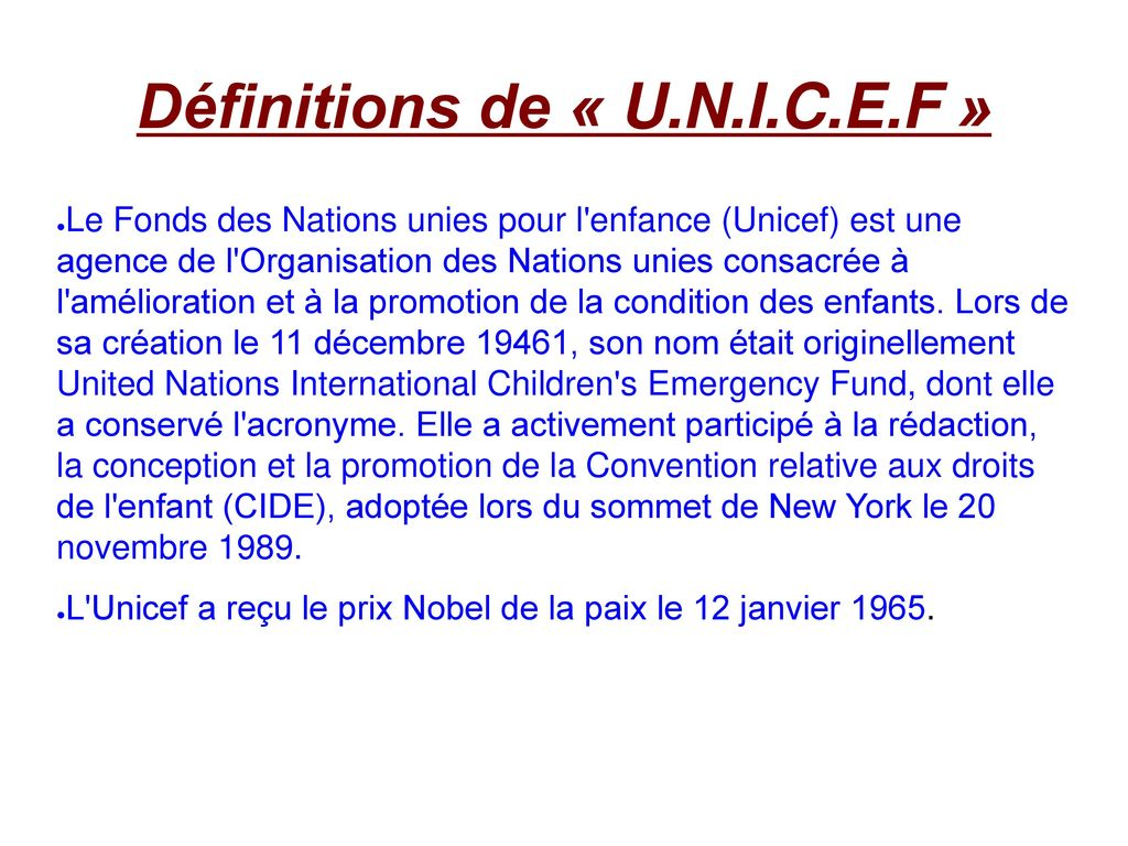 United Nations International Children's Emergency Fund