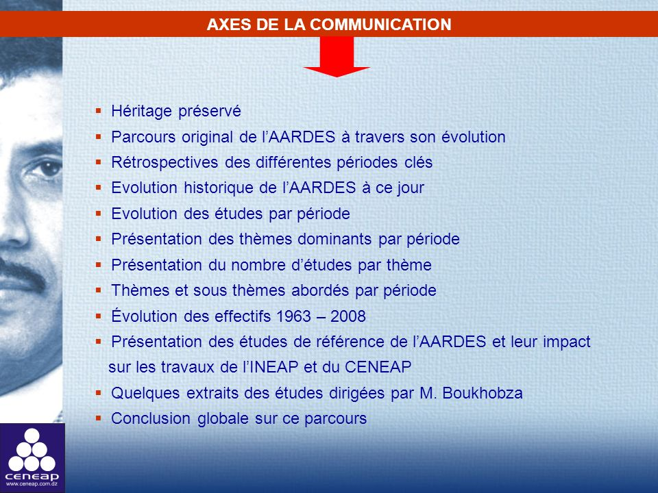 AXES DE LA COMMUNICATION