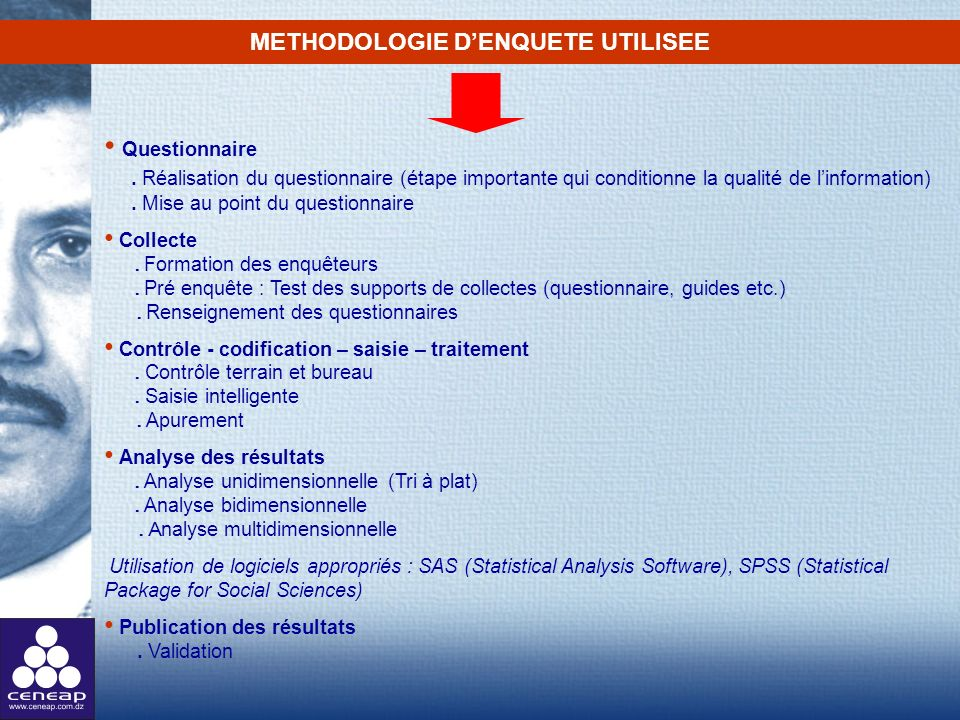METHODOLOGIE D'ENQUETE UTILISEE